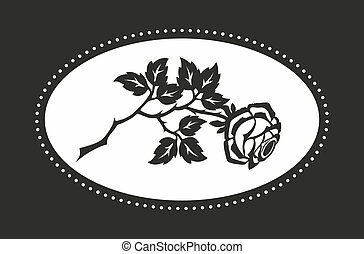 grief - decoration for funerals with a monochrome rose