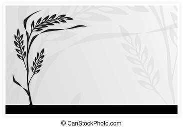 illustration of a blade of grass waving in the wind