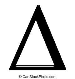griego, 3d, carta, delta