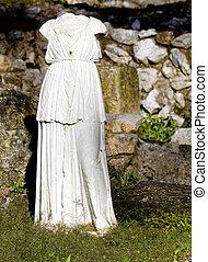 griego, arcaico, torso, estatua