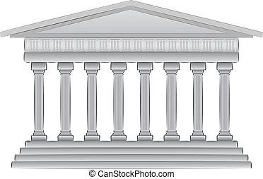 griego, cúpula, vector, ilustración