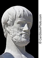 griego, filósofo, estatua, aristotle