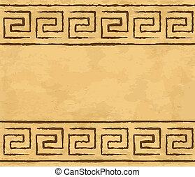 griego, seamless, patrón