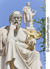 griego, socrates, antiguo, filósofo
