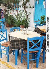 griego, terraza