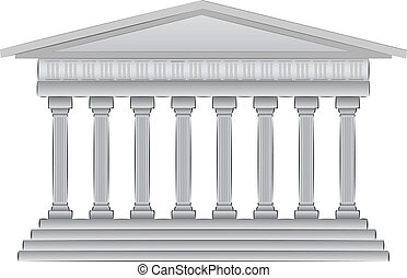 griego, vector, cúpula, ilustración