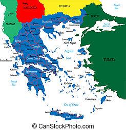 griekenland, kaart