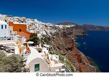griekenland, santorini, aanzichten