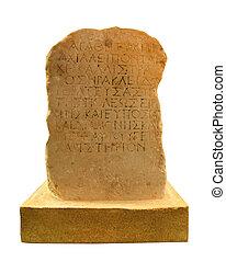 griekse , steen, oud schrijven
