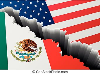 grieta, profundo, estados unidos de américa,  México