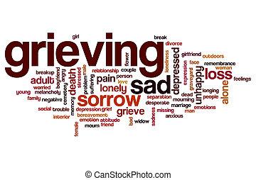 Grieving word cloud concept