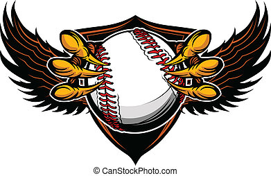 griffes, vecteur, base-ball, serres, aigle, illustration