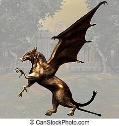 Griffin #04 - Fantasy Griffin - Image contains a Clipping...
