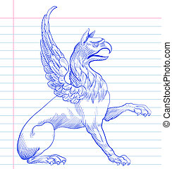 Griffin. Hand drawing