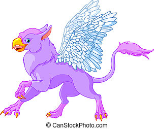 Griffin  - Illustration of beautiful magic griffin