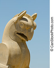 Griffin statue in an ancient city of Persepolis