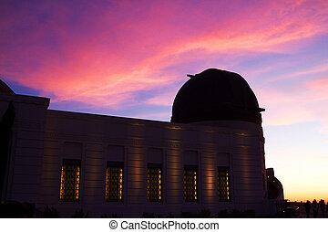 griffith 天文台, 中に, ロサンゼルス, ハリウッド, カリフォルニア, ∥において∥, 太陽