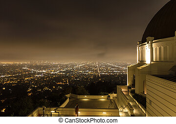 griffith 天文台, 中に, ロサンゼルス, 夜で