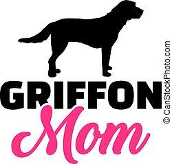 griffon, silueta, mamá