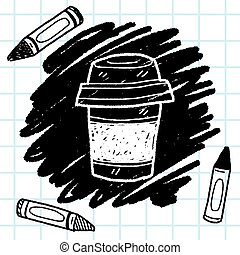 griffonnage, café, thé