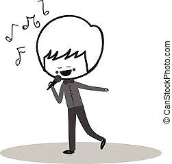 griffonnage, chanteur