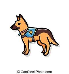 griffonnage, chien policier