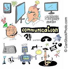 griffonnage, concept, communication