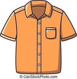griffonnage, conception, chemise, illustration