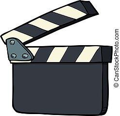 griffonnage, craquelin, film