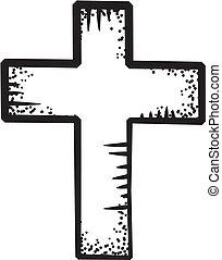 griffonnage, croix