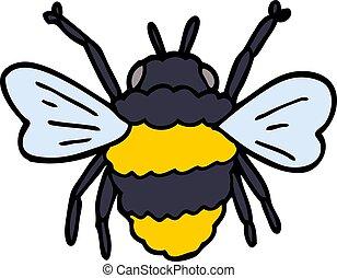 griffonnage, dessin animé, bumble abeille
