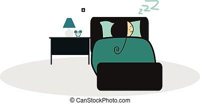 griffonnage, enfant endormi