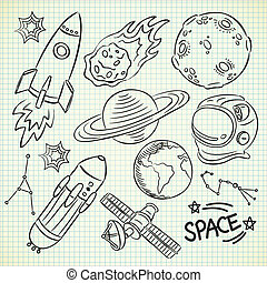 griffonnage, espace