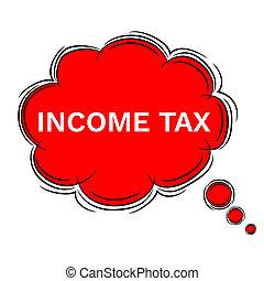 griffonnage, impôt, illustration, parole, revenu, bulle