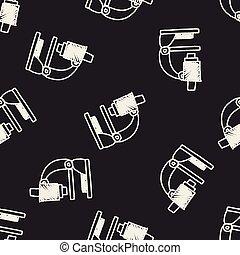 griffonnage, microscope
