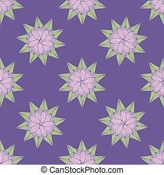 griffonnage, pattern., seamless, illustration, vecteur, floral