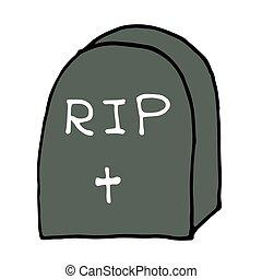 Fant me esquiss pierre tombe fant me caract re derri re pierre tombale dessin anim - Pierre tombale dessin ...