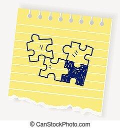 griffonnage, puzzle