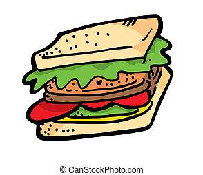 griffonnage, sandwich