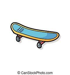griffonnage, skateboard