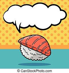 griffonnage, sushi