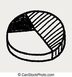 griffonnage, tarte