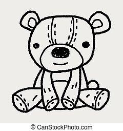 griffonnage, teddy
