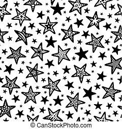 griffonnage, texture, étoiles