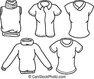griffonnage, vêtements