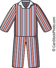 griffonnage, vecteur, pyjamas