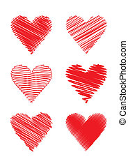 grifl, (vector), hjerter