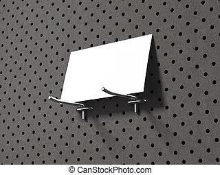 grigio, affari, legno, wall., interpretazione, scheda, 3d