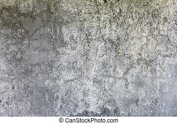 grigio, alterato, parete, scuro, concreto, fondo