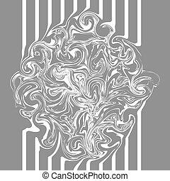 grigio, astratto, struttura, ondulato, disegno, marmo